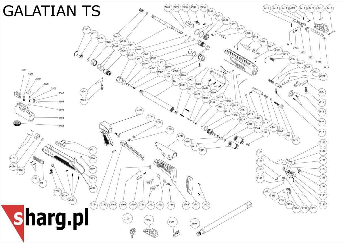 Adapter do napełniania kartusza PCP wiatrówki Hatsan (2323)