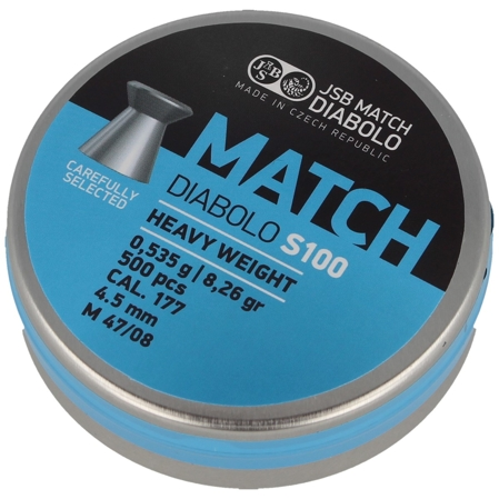 Śrut JSB Blue Match Diabolo S100 4.52mm 500szt (000030-500)