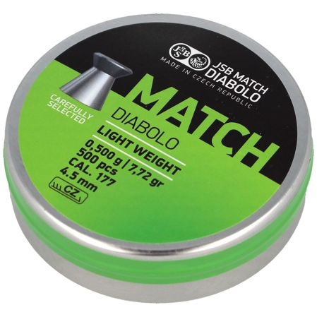 Śrut JSB Green Match Light Weight 4.5mm 0.500g (000005-500-5)